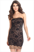 BD056,Free shipping club sexy women's summer wear cherrykeke temperament bustier dress,fashion dress
