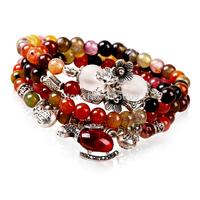 Fashion nature stone strand bracelets & bangles for women charm long chain jewelry brand wholesale