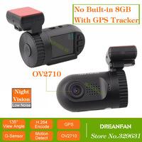 Mini 0801 Ambarella A2S60 Car Camera DVR with GPS Logger OV2710 1080P SOS LDWS Night Vision H.264