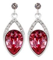 Sumao Women's Anniversary Stud Earrings Red