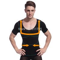 magic shape slimming corset for men belly fat burning abdomen men chest shaper black grey slimming underwear free shipping