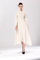 2015 NEW spring round collar women long sleeve fashion slim dress