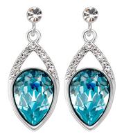 Sumao Women's Anniversary Stud Earrings Blue