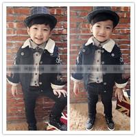 RQQ  children's clothing wholesale Korean Boy Color thickening coat  Christmas