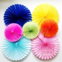 "Free Shipping 10pcs/Lot 12""(30cm) Paper Fan Wholesale/Retai Tissue Paper Fan Crafts Party Wedding Home Decorations PF-30-04"