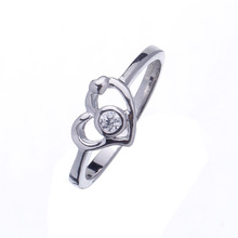 New Stylish Cut 925 Sterling Silver Clear Topaz Gemstone Wedding Ring Sz.7-9 Women's Gift