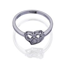 New Stylish Cut 925 Sterling Silver Clear Topaz Wedding Ring Sz 7 9 Women s Gift