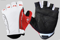 Hot Sell New Castelli Rosso Corsa Bike Bicycle Fingerless Cycling Gloves Outdoor Sports Gloves White/red color size: M,L,XL