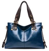 New Bolsas Femininas 2014 Women Genuine Leather Handbags Portable Single Shoulder Bag Fashion Messenger Bag Casual Vintage Tote