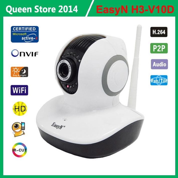 EASYN H3-V10D HD Mega Pixels 720P Plug And Play H.264 Wireless Indoor IP Camera Pan/Tilt IR Cut Motion Detection(China (Mainland))