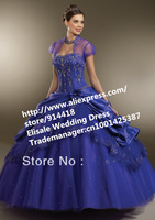 Free Shipping Roy Blue Vestido De 15 Anos De Debutante Big Size Cheap Masquerade Ball Gowns Sweet 16 Dresses With Free Jacket