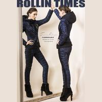 Royal 2014 for cat patchwork hip slim legs down pants