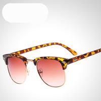 2014 New Retro Half Rim Frames Sun Glasses  Women & Men Brand Designer Wayfarer UV400 Protection Drving Sunglasses  Shades