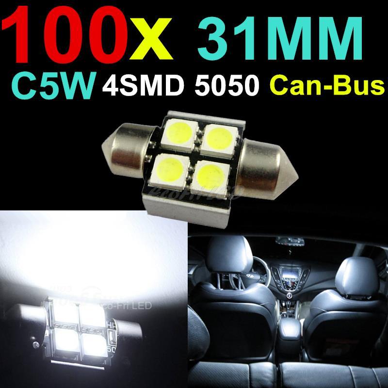 Верхнее освещение Eco-Fri LED 100 C5W Canbus 31 4SMD 5050 источник света для авто eco fri led 4pcs t10 501 w5w canbus 4 5050 smd 1 cree