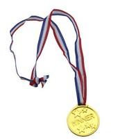 free shipping 50pcs/lot  fashion party supplies gold Plastic metal medal fashion children toys