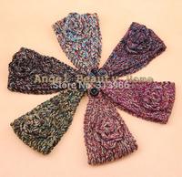 wholesale 10pcs/lot  fashion accessories headband colorful headbands for women flower haibands crochet headband for hair