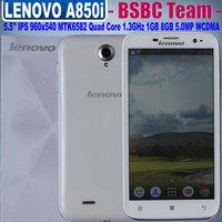 Lenovo A850 A850i 5.5 inch IPS 960x540 MTK6582 Quad Core 1.3GHz Cell Phone 1GB RAM 8GB Dual SIM 5.0MP Camera Support WCDMA GPRS