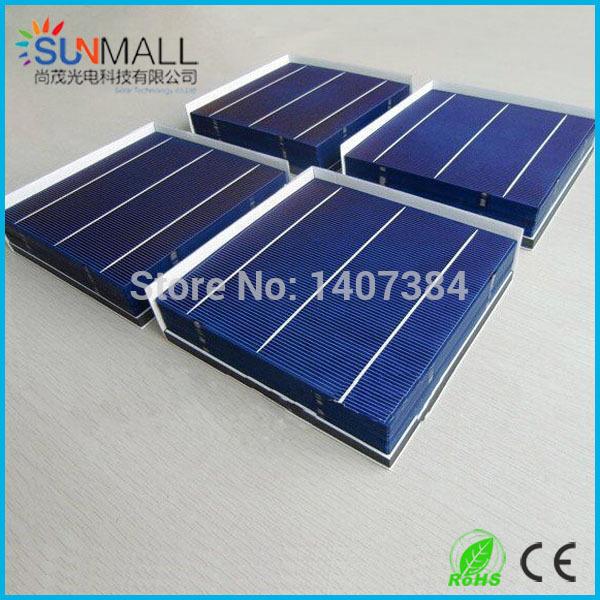 Promotion!!! 100pcs 17.2% 4.2W 156mm 3BB polycrystalline Solar cell(China (Mainland))