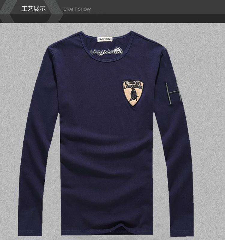1pc wholesale long-sleeve t-shirts Fashion New cotton Anti-pilling table Tennis sports casual,free shipping M-3XL(China (Mainland))