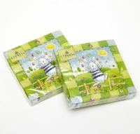 [4 packs] 100% virgin wood pulp party paper napkins sunny rabbit printed napkin wedding napkin cocktail napkins -Z4NC1240