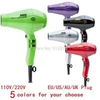 Brand New 3800 ECO Friendly Hair Dryers 5 Colors 110V / 220V Styling tool Professional Ionic&ceramic Hairdryer, AU/US/EU Plug