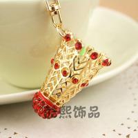 Fashion creative sports tennis ball keychain male women's car key chain wallet bag hang rings Christmas gift