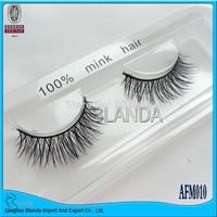 Free Shipping Winged 100% mink eyelashes Winged Real Mink Hair False Eyelashes Eye Lashes AFM011