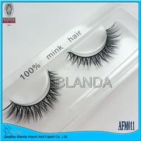UPS Free Shipping 100% Handmade 50Pair Thick Long False Eyelashes Mink Eyelash Eye Lashes Voluminous Makeup