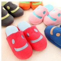 The New Autumn And Winter Cute Smiley Lovers Of Men And Women Home House Indoor Flooring And Soft Bottom Cotton Slippers