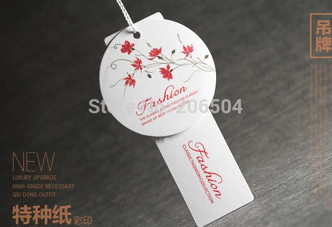 Free shipping customized/custom hang tags cloth printed hang tag hang tags labels for clothes/clothing personized dh11010(China (Mainland))