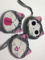 Clearance sale double zip pocket wristlet pouch purse mini bag cartoon round 12cm*12cm