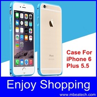 fast shipping Ultra thin 5.5 inch  Arc Metal Buckle metal aluminum frame bumper for iphone 6 plus