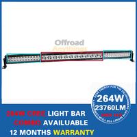 52'' 264w CREE LED Light Bar LED Offroad COMBO Truck ATV LED Work Light Car External Light IP67 9-32v +Free Wiring