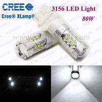 High Power car reversing light bulb Cree car led light 80W with CREE chip 3156 brake lamps led light for car T25 CREE 80W 3156