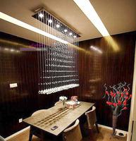 100CM Modern LED Cystal Ball Hanging Wire Square Pendant Light Fixture Rain Drop Curtain Chandelier Ceiling Lamp Lighting