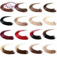 Neitsi Hair Micro Loop Ring fashion women Hair Straight Extensions 100% Brazilian Bead Hair High Grade Link Hair 100 Strands