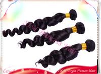 "Hot Sale 8""-30"" 3pcs  Brazilian Loose Wave Virgin Hair 100% Unprocessed Human Hair Extension DHL Free, Grade 5A Tangle  HF09"