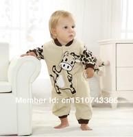 Beige cow Baby clothes newborn 100% cotton baby romper spring and autumn summer sleepwear