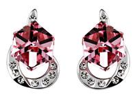 Sumao Women's Engagement Stud Earrings Red