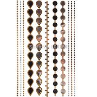 1pc/lot/GT003,Flash Temporary Tattoo/opisthenar,elbow,foot/Jewelry,Bracelet/waterproof Gold Metallic fake tattoo sticker sex/CE