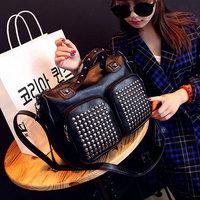 New fashion Women handbag Rivet shoulder bags messenger bag work bags