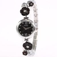 Authentic KIMIO Han Edition Fashion Brand Watch, Diamond Plum Flower Ceramic Watches, Women Retro Bracelet Quartz Watch