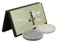 Go Go Chess Pieces Board Game WeiQi Baduk Full Set Stone 19 by 19 Crosses Magnetic Board ir de ajedrez ir xadrez