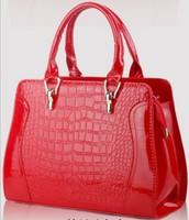 2014 Fashion Brand New 6 Colors Crocodile Women Handbag Leather PU Bolsas Femininas Single Shoulder Bags Female Vernis Tote Gift