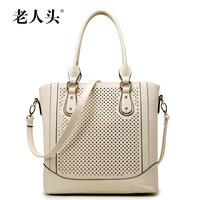 LAORENTOU women leather handbags designer handbag high quality new 2014 fashion hollow tote shoulder bags ladies wristlet bag