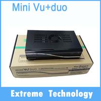 1pc mini VU+ DUO Twin Tuner DVB-S2 satellite tv receiver Mini Vu Duo Decoder Linux OS 405MHz Processor free shipping
