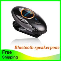 Free Shipping Sun Visor Bluetooth Speakerphone Handsfree Car Kit Local Phone number Caller ID Display by LCD Screen BT8110
