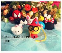 Hot Sale+Free Shipping Cartoon Antenna Ball Ornaments for Car ,Cartoon Ball Car Decoration Topper EVA
