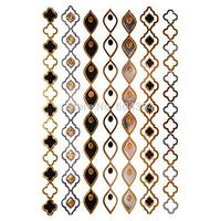 1pc/lot/GT006,Temporary Metallic Tattoo/finesse,Shank/Jewelry,bracelet,Gold Strip/waterproof Gold Flash fake tatoo sex art/CE