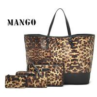 Europe and the United States mango winter fashion female leopard grain bag big bag package free shipping handbag